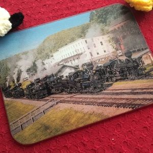 Decorative Glass Tray - Cass Scenic Railroad